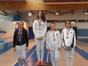 Gonesse podium filles